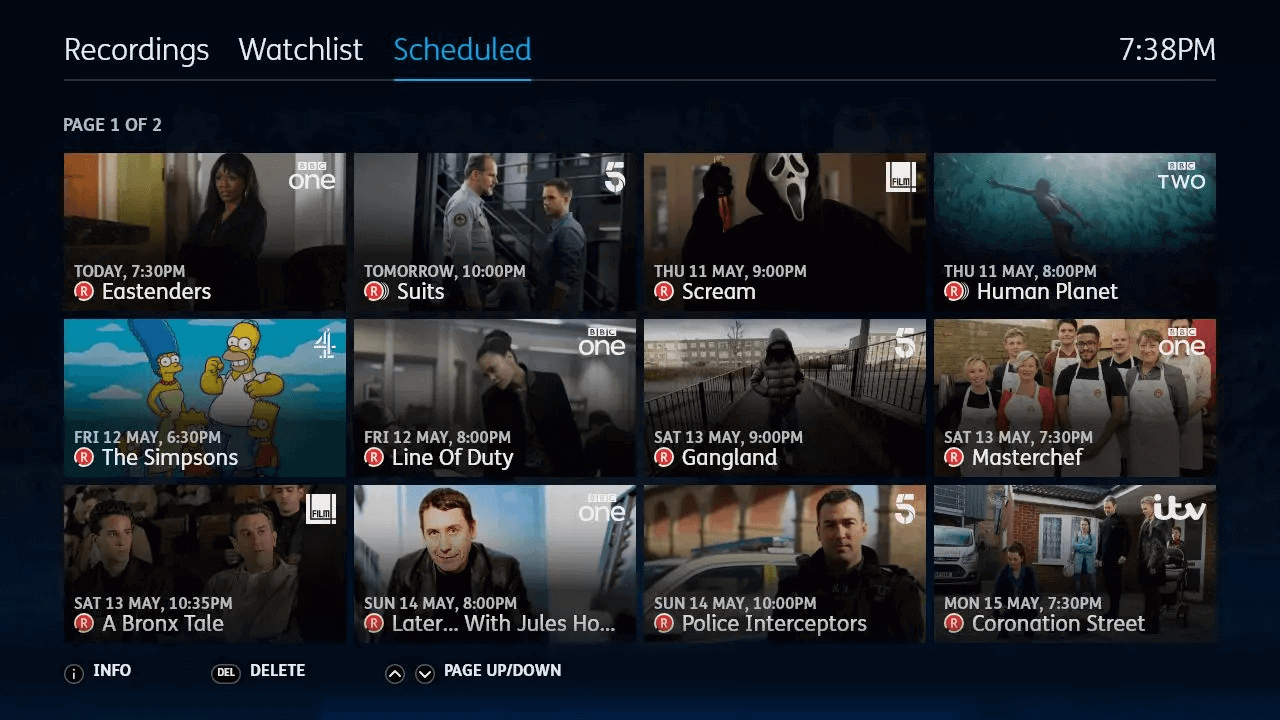 YouView MyTV Scheduled image