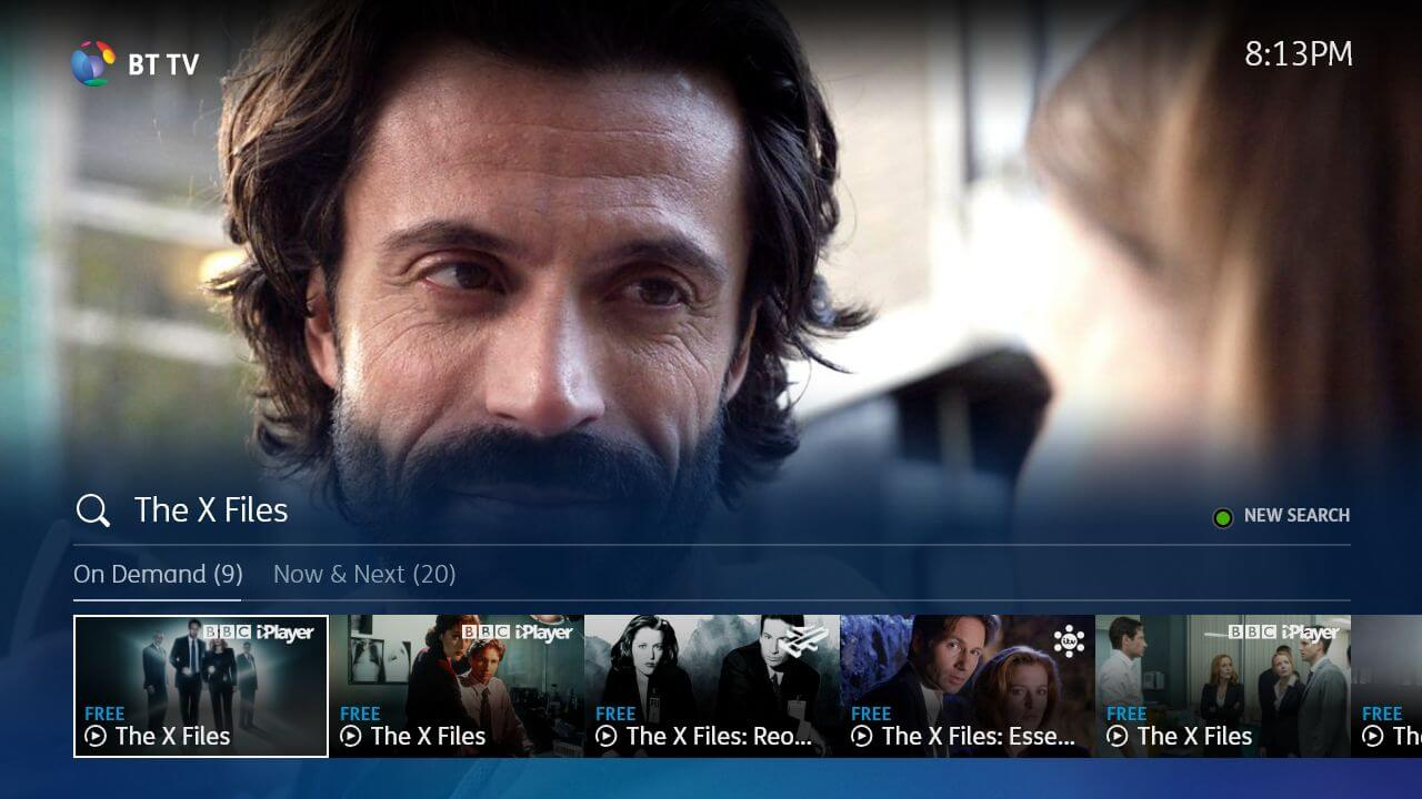 YouView MyTV Recordings BT Skin image